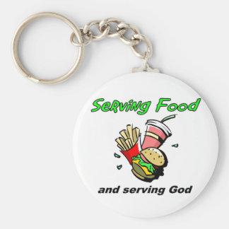 Serving Food Serving God Christian Gift Keychain