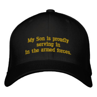Serving In The  Armed Forces. Embroidered Baseball Hat