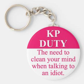 Serving Kitchen Duty (3) Basic Round Button Keychain