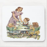 Serving Lunch Mousepad