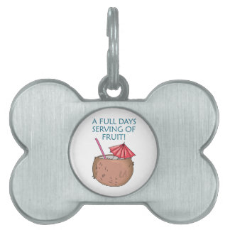 Serving Of Fruit! Pet Name Tag