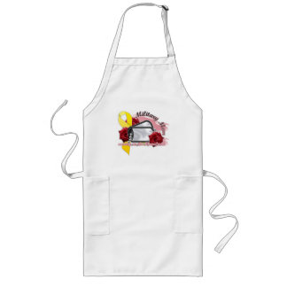 serving on the homefront(military mom) long apron