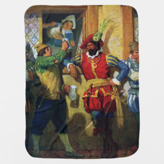 Serving Pirates Ale from Tavern Window Stroller Blanket