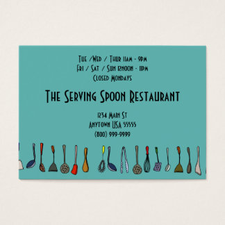 Serving Spoon Restaurant Business Cards