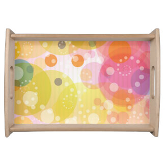 Serving Tray Featuring a vibrant Circle Pattern