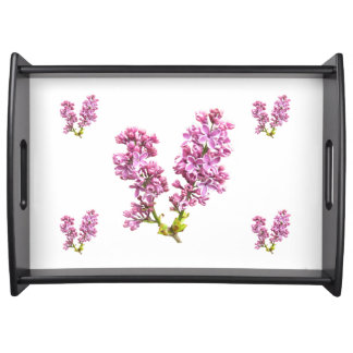 Serving Tray - Lilac Blossoms