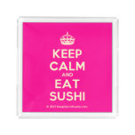 [Crown] keep calm and eat sushi  Serving Trays Square Serving Trays