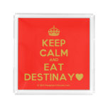 [Crown] keep calm and eat destinay♥  Serving Trays Square Serving Trays