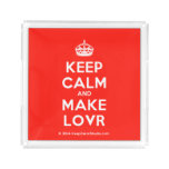 [Crown] keep calm and make lovr  Serving Trays Square Serving Trays
