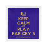 [Computer] keep calm and play far cry 3  Serving Trays Square Serving Trays