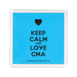 [Love heart] keep calm and love cma  Serving Trays Square Serving Trays
