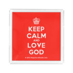[Cupcake] keep calm and love god  Serving Trays Square Serving Trays