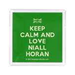 [UK Flag] keep calm and love niall horan  Serving Trays Square Serving Trays