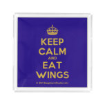 [Crown] keep calm and eat wings  Serving Trays Square Serving Trays
