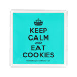 [Crown] keep calm and eat cookies  Serving Trays Square Serving Trays