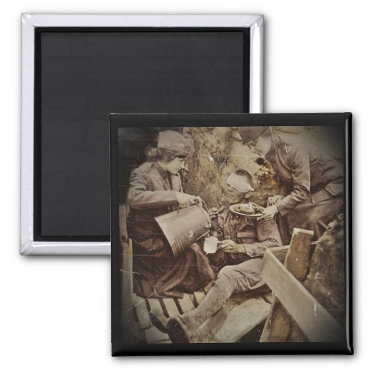 Serving Wounded Soldier Coffee Magnet