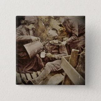 Serving Wounded Soldier Coffee Pinback Button