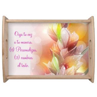 ServingTray_Burst of Spring YourSayYourWay_Espanol Serving Trays