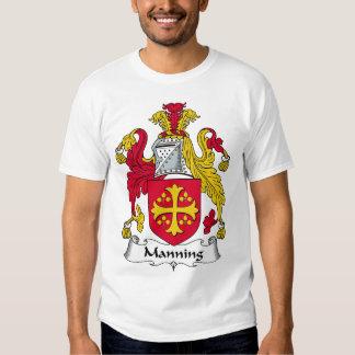 Servir el escudo de la familia camisas