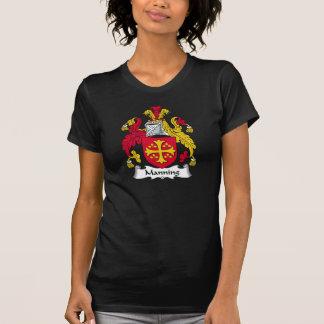 Servir el escudo de la familia camisetas