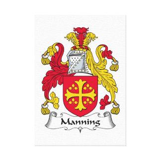 Servir el escudo de la familia impresión de lienzo