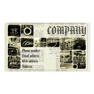 Servise retro del vintage tarjetas de visita