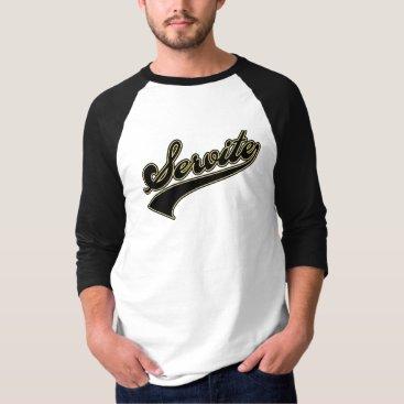 Beach Themed Servite Script T-Shirt