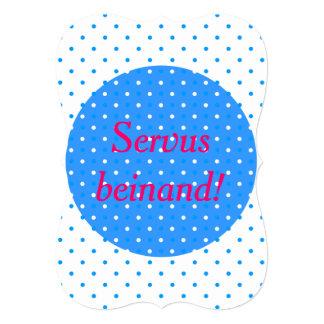 Servus beinand! 5x7 paper invitation card