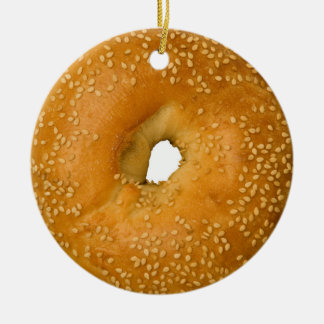 Sesame Bagel Holiday Ornament