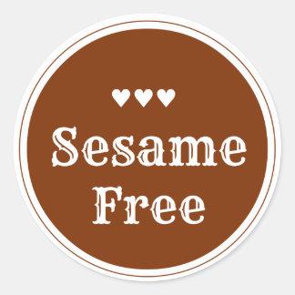 Sesame free sticker