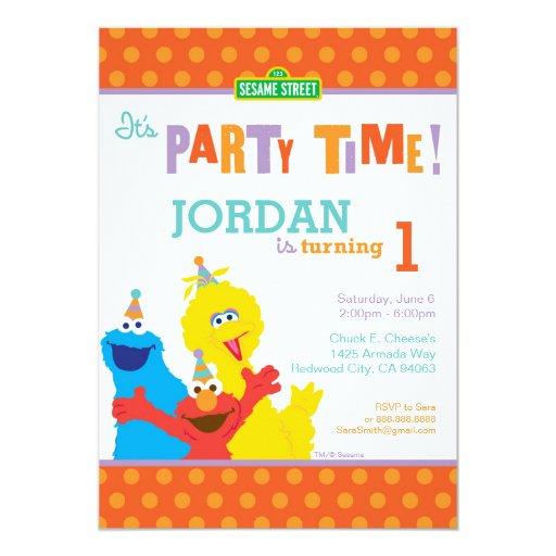 Sesame Pals Birthday 5x7 Paper Invitation Card