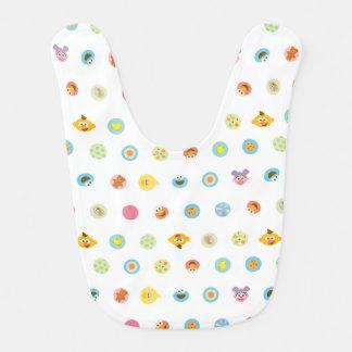 Sesame Pals Character Pattern Baby Bib