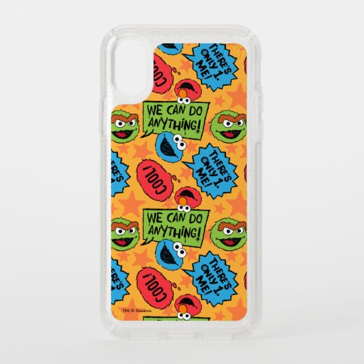 Sesame Pals Positivity Callout Pattern Speck iPhone X Case