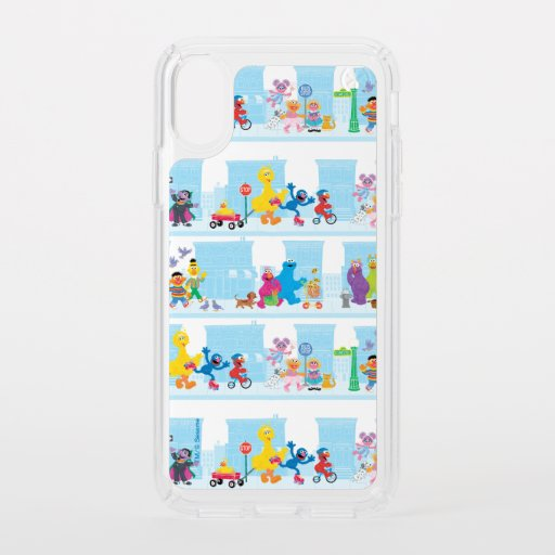 Sesame Pals Walking Along Sesame Street Pattern Speck iPhone X Case