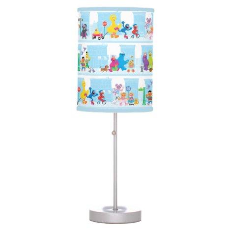 Sesame Pals Walking Along Sesame Street Pattern Table Lamp