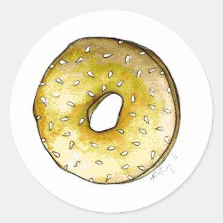 Sesame Seed Bagel New York NYC Bagels Food Sticker