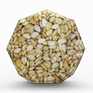 Sesame seed macro photo acrylic award