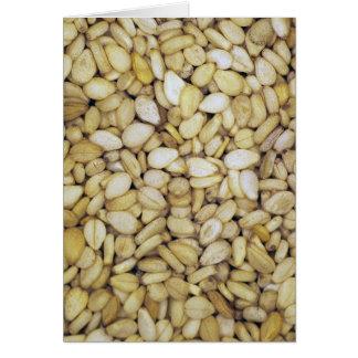 Sesame seed macro photo greeting card