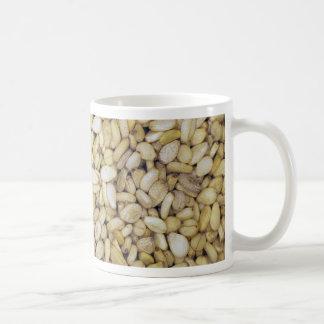 Sesame seed macro photo coffee mug