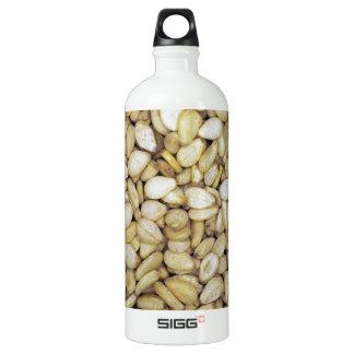 Sesame seed macro photo water bottle