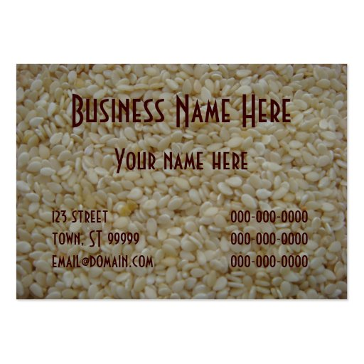 Sesame Seeds Large Business Cards (Pack Of 100)