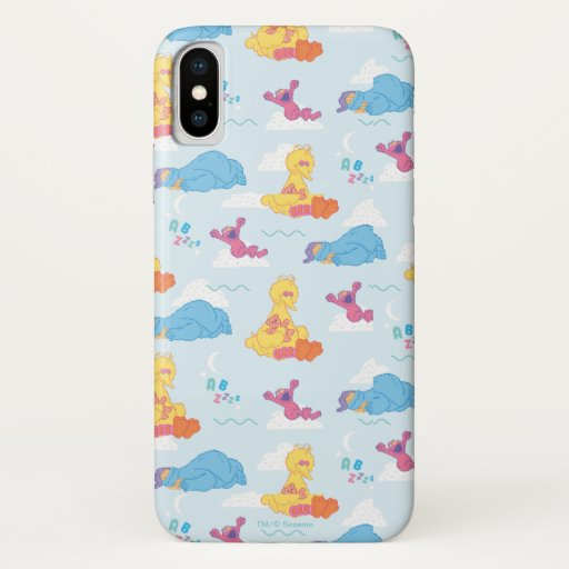 Sesame Sleepy Time Pattern iPhone X Case