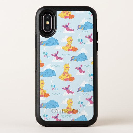Sesame Sleepy Time Pattern OtterBox Symmetry iPhone X Case