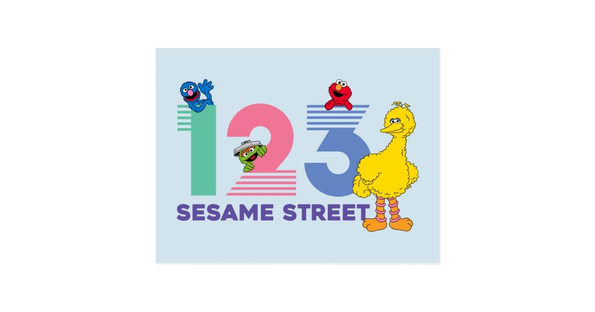 Sesame Street 123 Postcard Zazzle Com