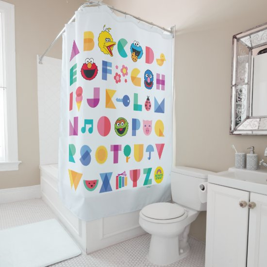 Sesame Street Alphabet Shower Curtain