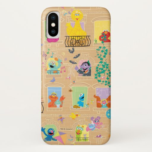 Sesame Street Apartment Windows Pattern iPhone X Case