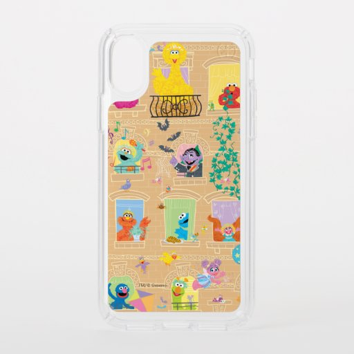 Sesame Street Apartment Windows Pattern Speck iPhone X Case