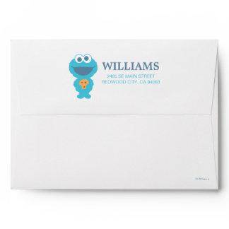 Sesame Street   Baby Cookie Monster Envelope