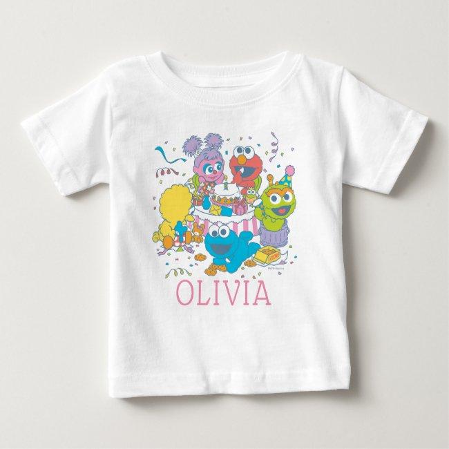 Sesame Street | Baby's First Birthday Baby T-Shirt
