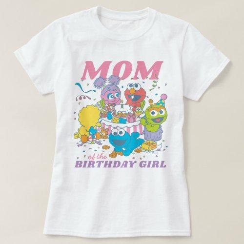 Sesame Street  Babys First Birthday _ Mom T_Shirt